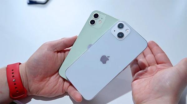 Thiết kế cụm camera kép trên iPhone 13 và iPhone 12 khác nhau