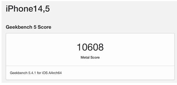 Điểm số của iPhone 13