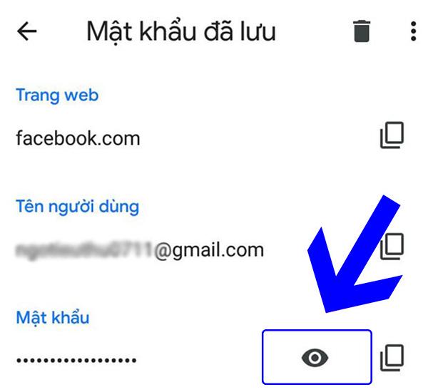 Xem mật khẩu gmail đã lưu trên android (2)
