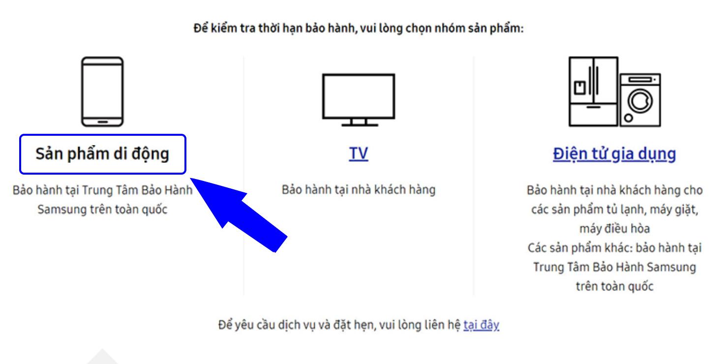Cách kiểm tra bảo hành Samsung chính hãngß