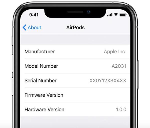 Xem thông tin Airpods bằng iPhone