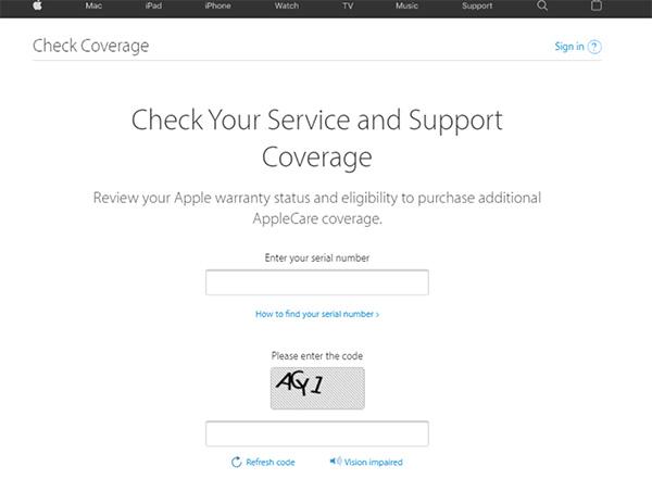 Kiểm tra Apple Watch, Airpods, Macbook chính hãng trên website của Apple