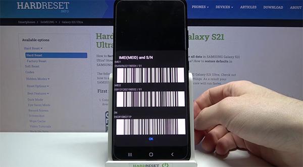 Số IMEI Samsung là mã số nhận diện thiết bị di động quốc tế