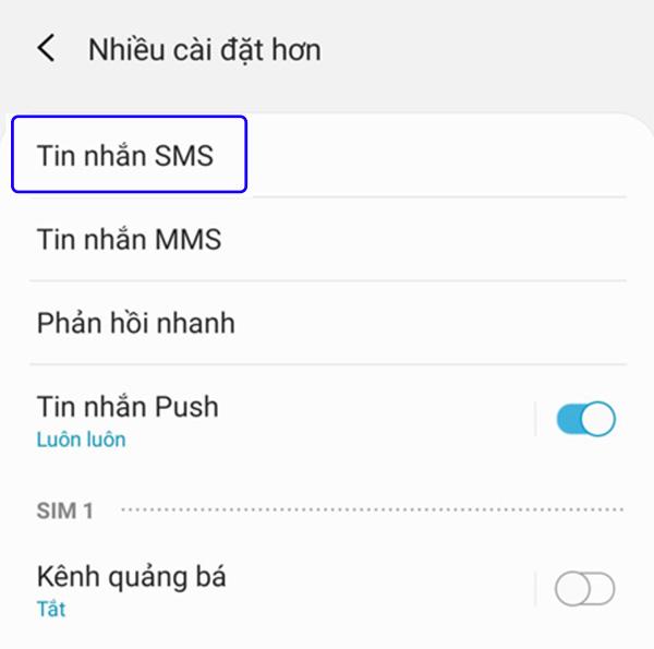 Tắt chế độ MMS trên Samsung (1)