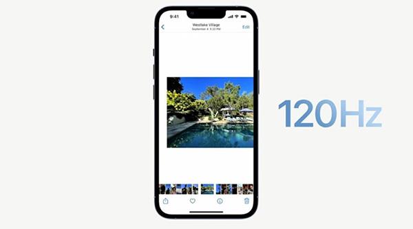 iPhone 13 Pro hỗ trợ tần số quét 120Hz.