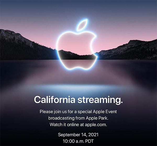 Thư mời sự kiện ra mắt sản phẩm mới của Apple.