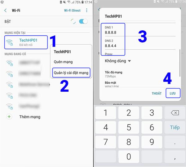 Hãy thử thay đổi DNS Wifi trên điện thoại (1)