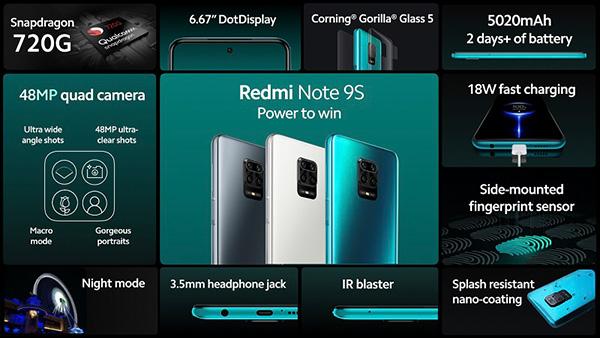 Redmi Note 9S với những trang bị thông minh