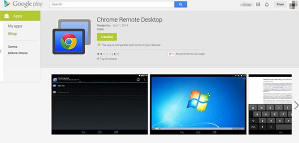 Google Remote Desktop cho phép điều khiển máy tính qua các điện thoại Android