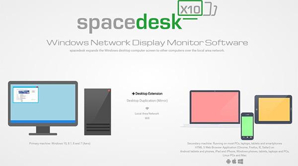 Sử dụng Sử dụng ứng dụng Spacedesk giúp biến điện thoại thành màn hình máy tính
