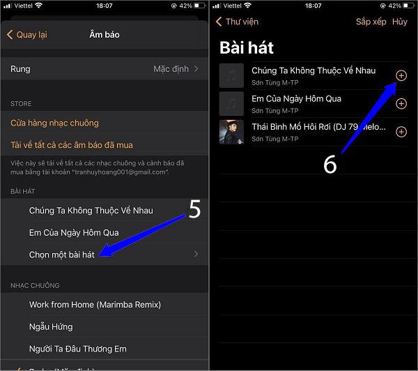 Cách cài nhạc chuông cho iPhone từ file nhạc có sẵn trên iPhone (1)