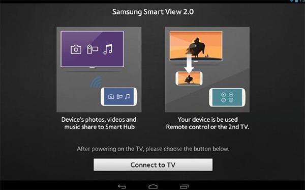 Ứng dụng điều khiển tivi bằng điện thoại qua ứng dụng Smart View 2.0