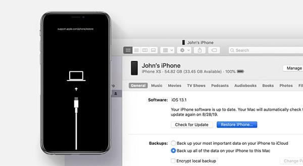 Restore iPhone là cách khắc phục lỗi iPhone bị mất IMEI