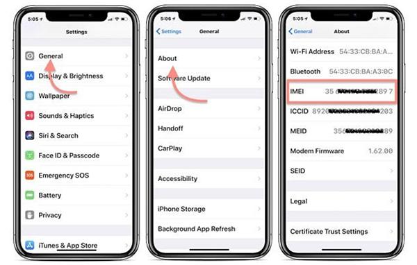 iPhone mất IMEI là gì?