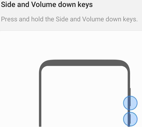 Tắt nguồn điện thoại Samsung bằng phím vật lý