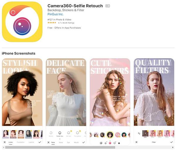 Ứng dung chụp ảnh 360 độ trên iPhone 360 Panorama (iOS)