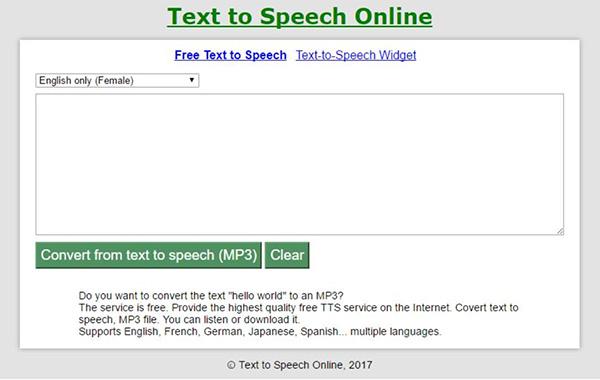 Website đọc văn bản tiếng Anh Online Tts.softgateon.net